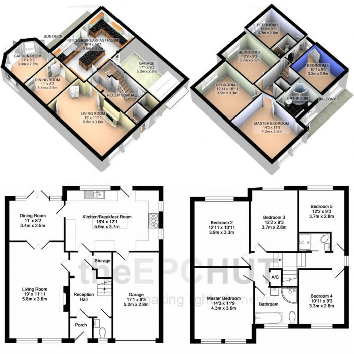 Professional 2D & 3D Floor Plans
